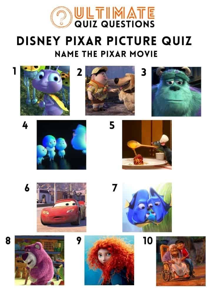 disney pixar picture quiz